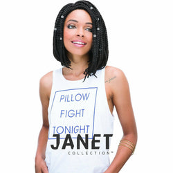 Janet Collection Crochet Hair #1- JET BLACK JANET COLLECTION 3S HAVANA BOX BRAID 12""