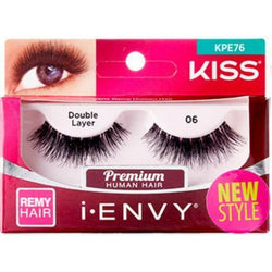 "Kiss Professional eyelashes Kiss i-Envy ""Double Layer"" Remy Eyelashes #KPE76"