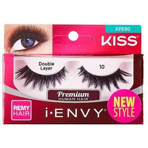 "Kiss Professional eyelashes Kiss i-Envy ""Double Layer"" Remy Eyelashes #KPE80"