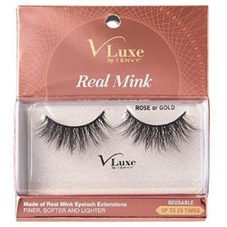 Kiss Professional eyelashes VLEC01 - Rose or Gold KISS: i-ENVY V-Luxe Real Mink Eyelashes