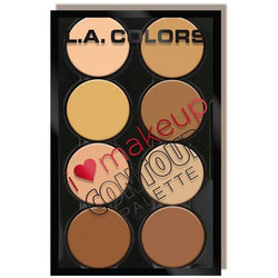 L.A. Colors Cosmetics Light to Medium L.A. GIRL: I Heart Makeup Contour Palette