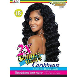 MANE CONCEPT Crochet Hair Afri Naptural 2X BOUNCE MOTION WAVE Crochet Braid 18""