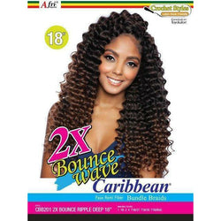 MANE CONCEPT Crochet Hair Afri Naptural 2X BOUNCE RIPPLE DEEP Crochet Braid 18""