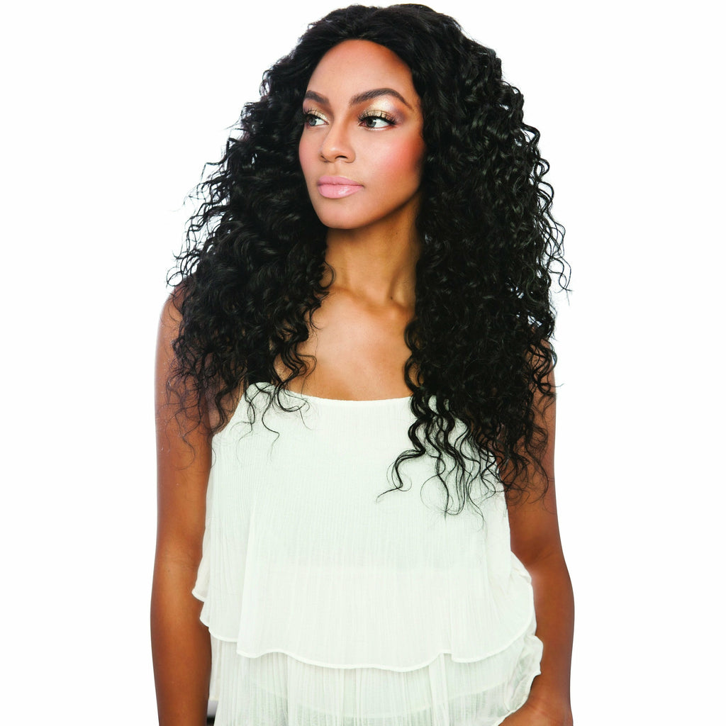 Mane Concept Virgin Bundles Pristine: 13A 100% Unprocessed Human Hair 3 Bundle Pack - Deep Wave