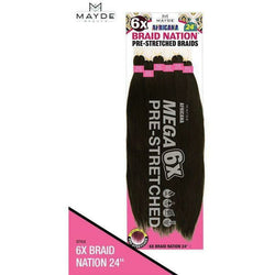 "MAYDE BEAUTY Braiding Hair Mayde Africana 6x Braid Nation 32"" <br>Pre-Stretched"