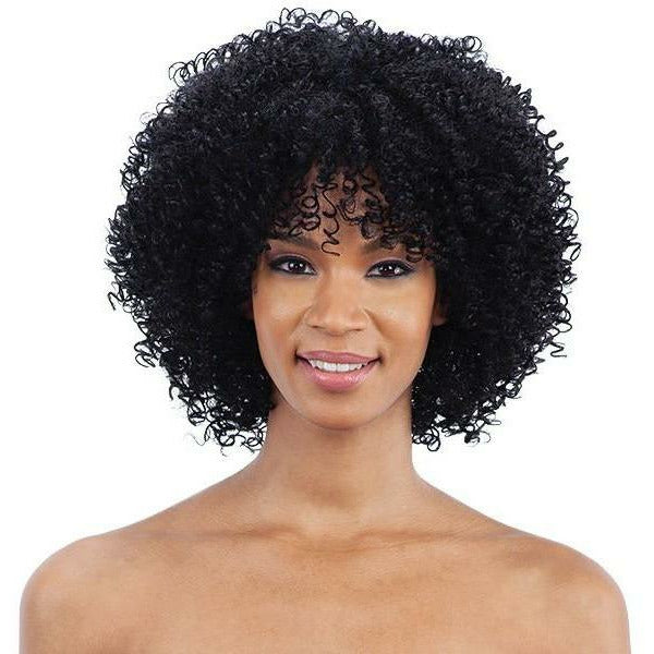 Mayde Beauty lace wigs #1 - Jet Black MAYDE BEAUTY: Synthetic Wig - Curly Fro