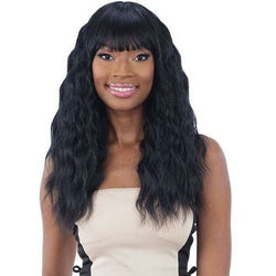 Mayde Beauty lace wigs #1 - Jet Black MAYDE BEAUTY: Synthetic Wig - Leah