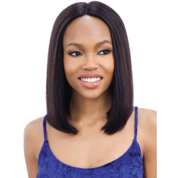 "Mayde Beauty lace wigs #14 / #NATURAL MAYDE BEAUTY: Human Hair 5"" Lace and Lace Front Wig - Blunt Bob 14"""
