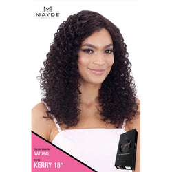Mayde Beauty lace wigs #18 / #NATURAL MAYDE BEAUTY: It Girl 100% Virgin Human Hair Lace Front Wig Kerry 18""