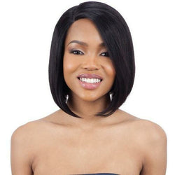 Mayde Beauty lace wigs MAYDE BEAUTY: 100% Human Hair Lace and Lace Front Wig - Angled Bob