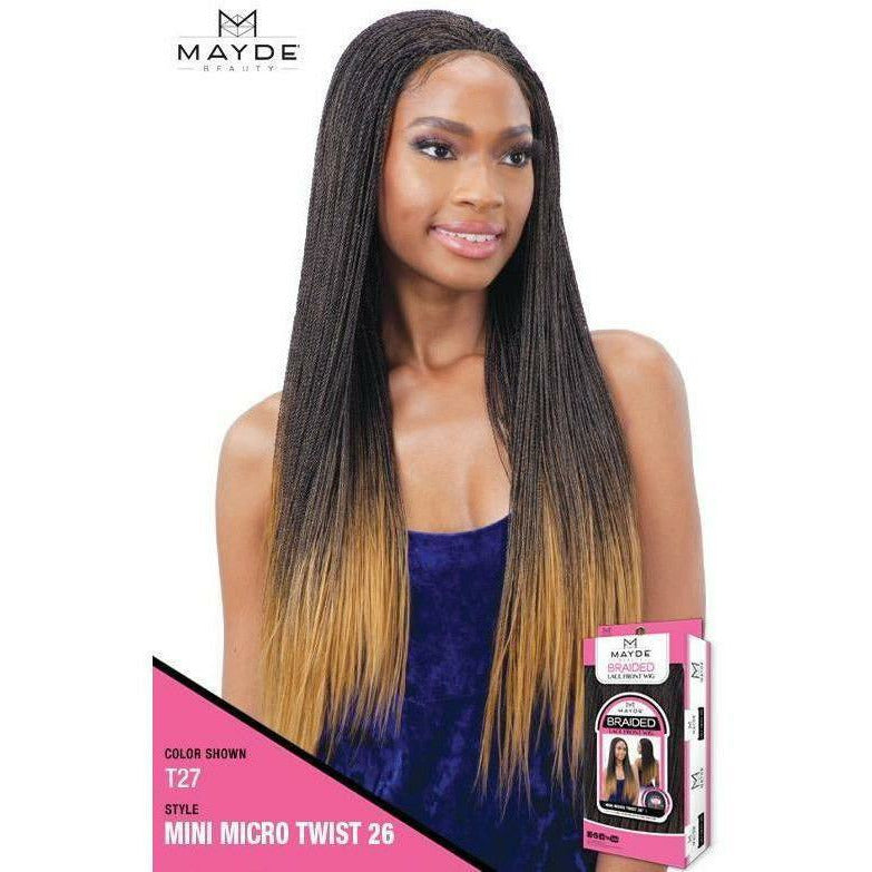 Mayde Beauty lace wigs MAYDE BEAUTY: Synthetic Braided 4x4 Lace Front Wig Mini Micro Twist 26""