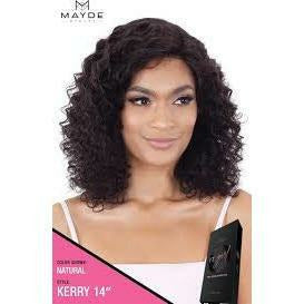 "Mayde Beauty lace wigs #NATURAL / #14"" MAYDE BEAUTY: It Girl 100% Virgin Human Hair Lace Front Wig Kerry 14"""