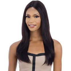 "Mayde Beauty lace wigs #NATURAL MAYDE BEAUTY: 100% Human Hair Axis 5"" Deep Lace Part Wig - Layered Straight"