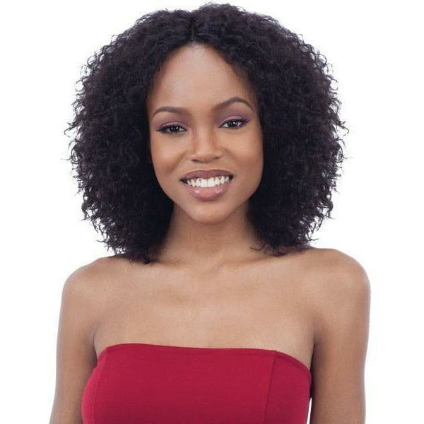 Mayde lace wigs Mayde: Wet & Wavy 100% Human Hair Invisible Lace Part Wig - Deep Curl