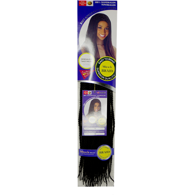 "Miracle Braiding Hair #1 - Jet Black / 20"" MIRACLE™  SENEGALESE MICRO TWIST BRAID"