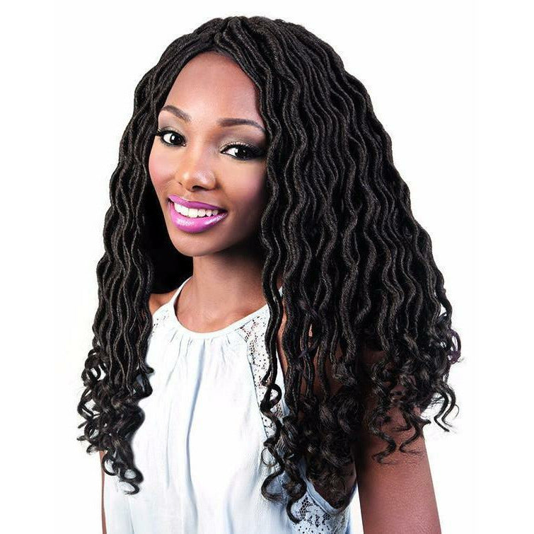 Motown Tress Crochet Hair #1 MOTOWN TRESS <br> ANGELS COLLECTION BRAIDS <br> 3X GODDESS LOCS 18""