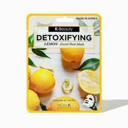 Nicka K Natural Skin Care Detoxifying Lemon - NSM01 K-Beauty: Facial Sheet Mask 0.7oz