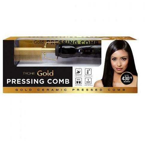 Nicka K Salon Tools Tyche: Gold Ceramic Pressing Comb