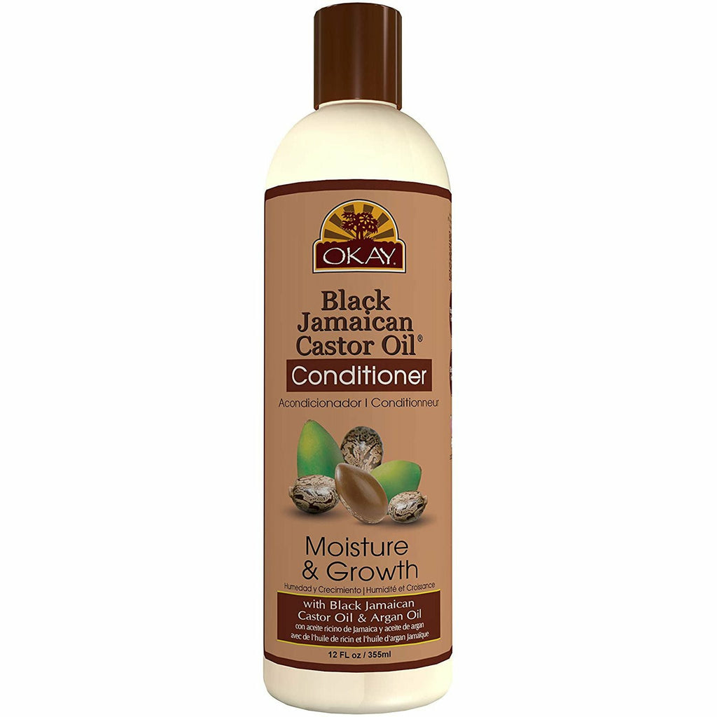 Okay Hair Care OKAY: Black Jamaican Castor Oil Moisture & Growth Conditioner 12oz