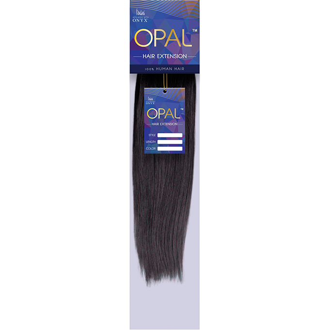 "Opal Human Hair 10"" / #1 Opal™  : Natural Yaki 100% Human Hair"