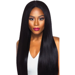 Outre lace wigs #1 Outre Synthetic SWISS X 4 Way Part Lace Front Wig Vixen Yaki
