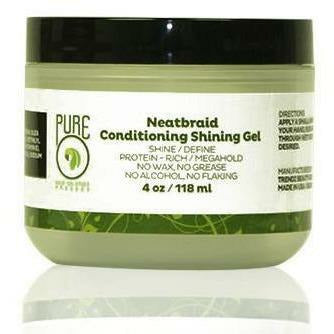 PURE HAIR SOLUTION Hair Care PURE: Neatbraid Conditioning Shining Gel 4oz