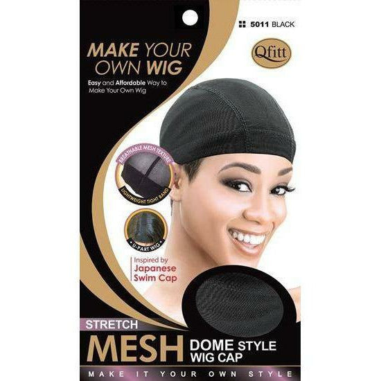 Qfitt Hair Accessories Black #5011 QFITT: Stretch Mesh Dome Style Wig Cap