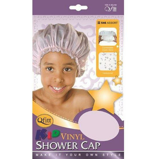 Qfitt Hair Accessories QFITT: Kid Vinyl Shower Cap #546
