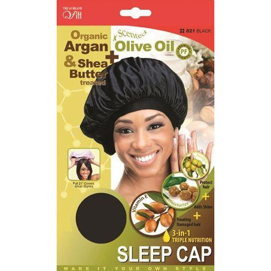 Qfitt Hair Accessories QFITT: Organic 3-in-1 Triple Sleep Cap #821