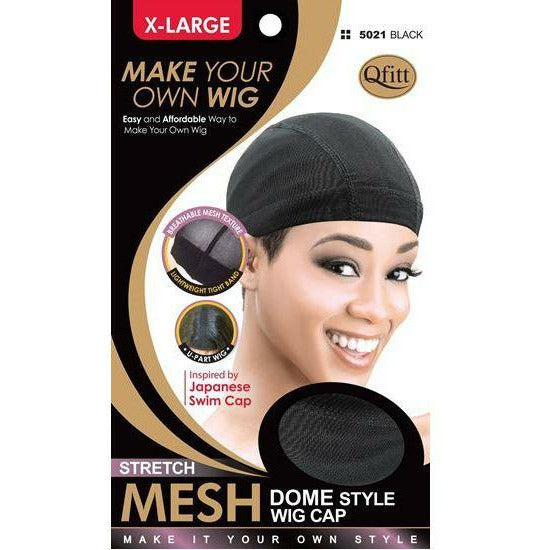 Qfitt Hair Accessories QFITT: Stretch Mesh Dome Style Wig Cap- XL #5021
