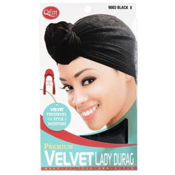 Qfitt Hair Accessories QFITT: Velvet Lady Durag