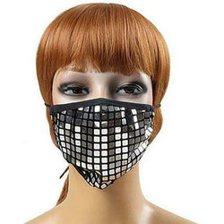 R&B MASKS Square Sparkle Rhinestone Reusable Face Masks