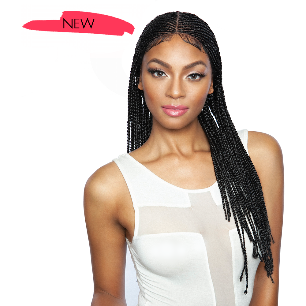 Red Carpet lace wigs #1 - Jet Black Red Carpet: Invisible Braid Lace Wig- Minaj 24""