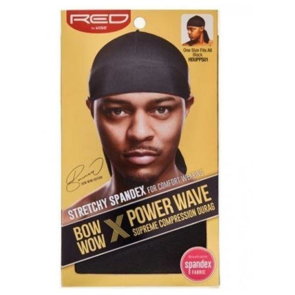 RED Hair Accessories RED: BOW WOW POWER WAVE DURAG