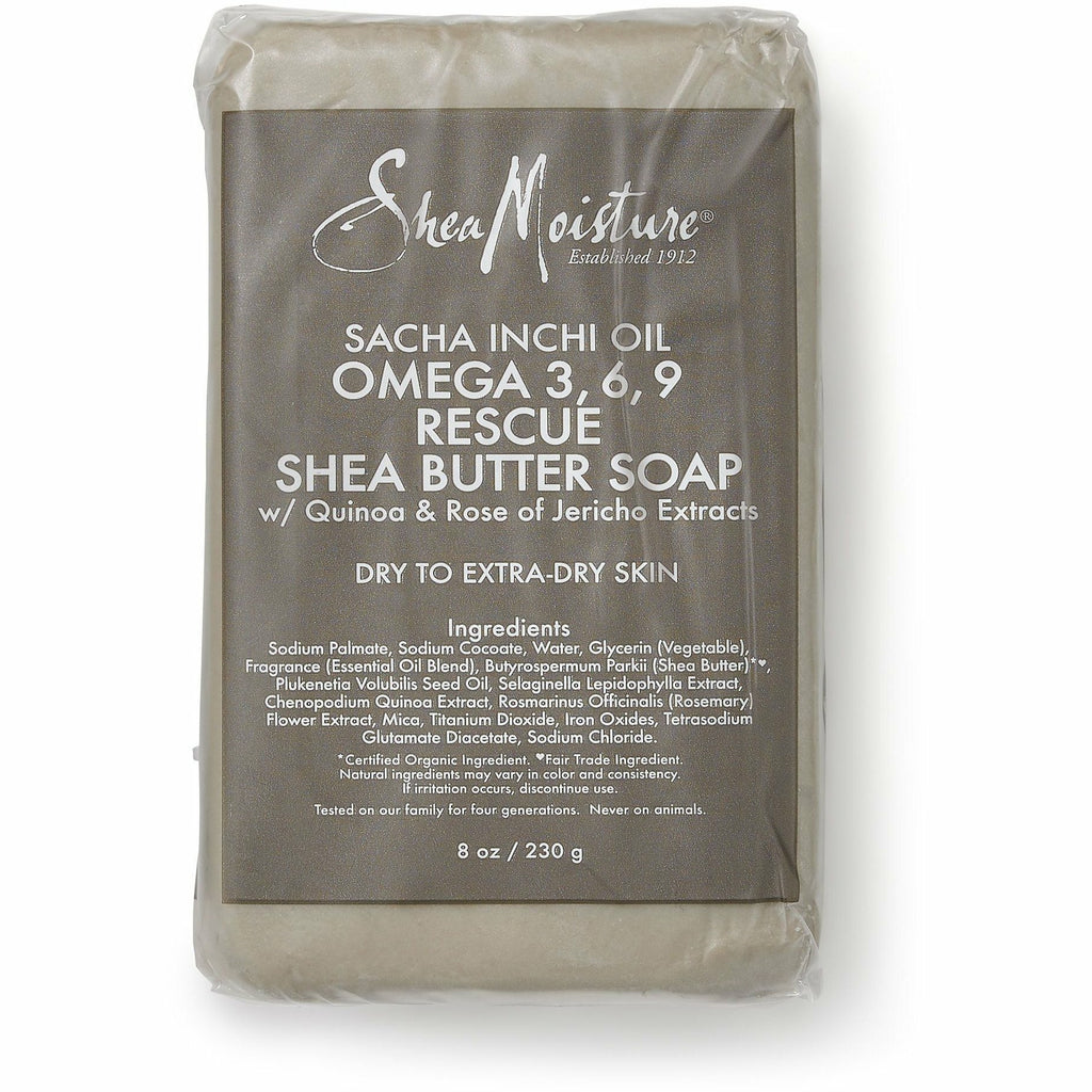 Shea Moisture Bath & Body Shea Moisture: Sacha Inchi Oil Omega 3, 6, 9 Rescue Shea Butter Soap 8oz