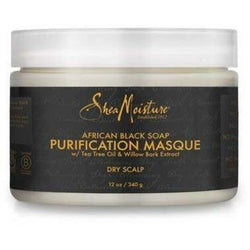 Shea Moisture Hair Care Shea Moisture: AFRICAN BLACK SOAP DANDRUFF CONTROL HAIR MASQUE 12oz