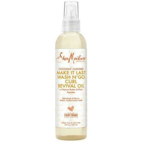 Shea Moisture Hair Care SHEA MOISTURE: Coconut Custard Make It Last Wash N' Go Curl Revival Oil 8oz