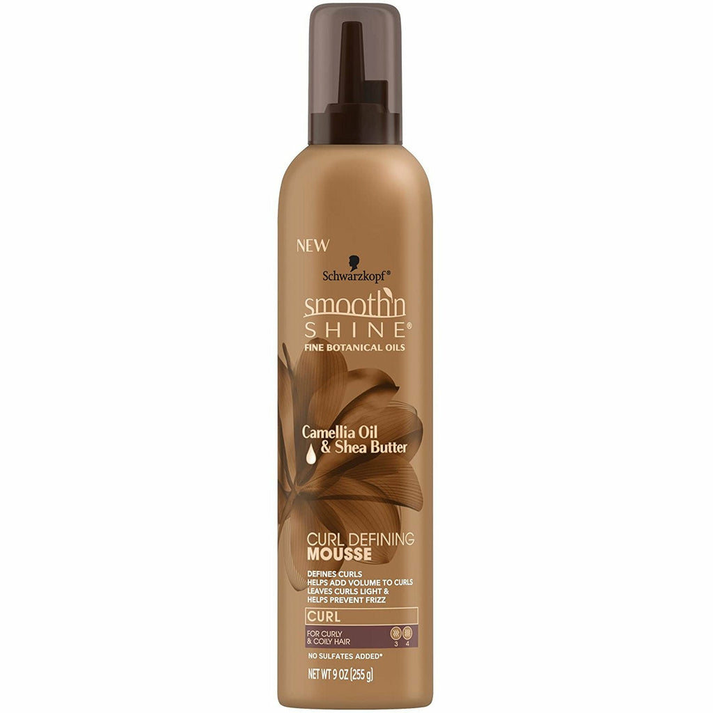 Smooth n Shine by Schwarzkopf Hair Care SMOOTH N SHINE by Schwarzkopf: Curl Defining Mousse 9oz