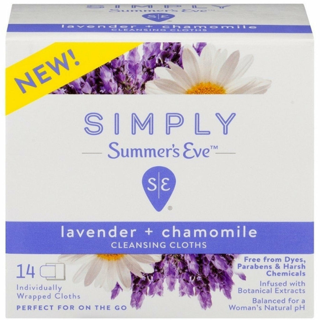 Summer's Eve Bath & Body Summer's Eve: Cleansing Cloths 14 count- Lavender & Chamomile