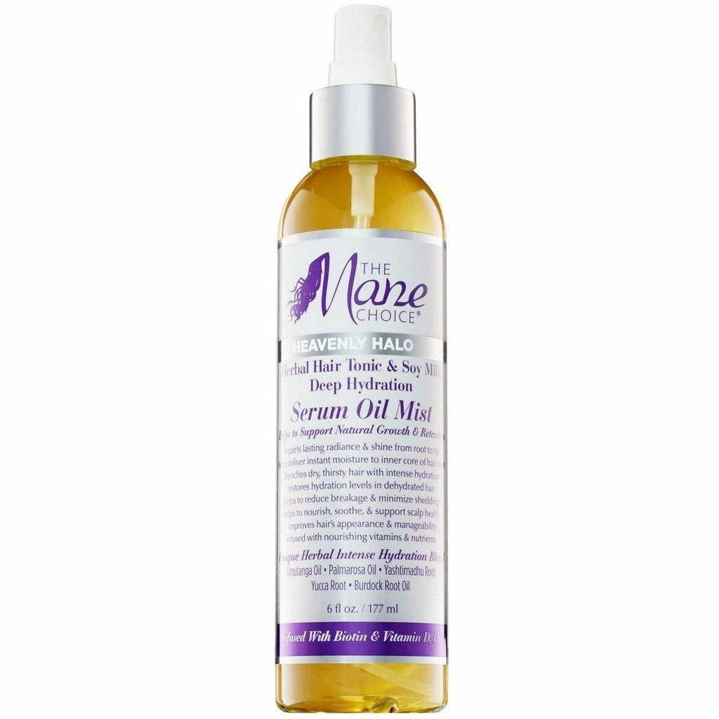 The Mane Choice Hair Care The Mane Choice: Heavenly Halo Herbal Hair Tonic & Soy Milk Deep Hydration Serum Oil Mist 6oz