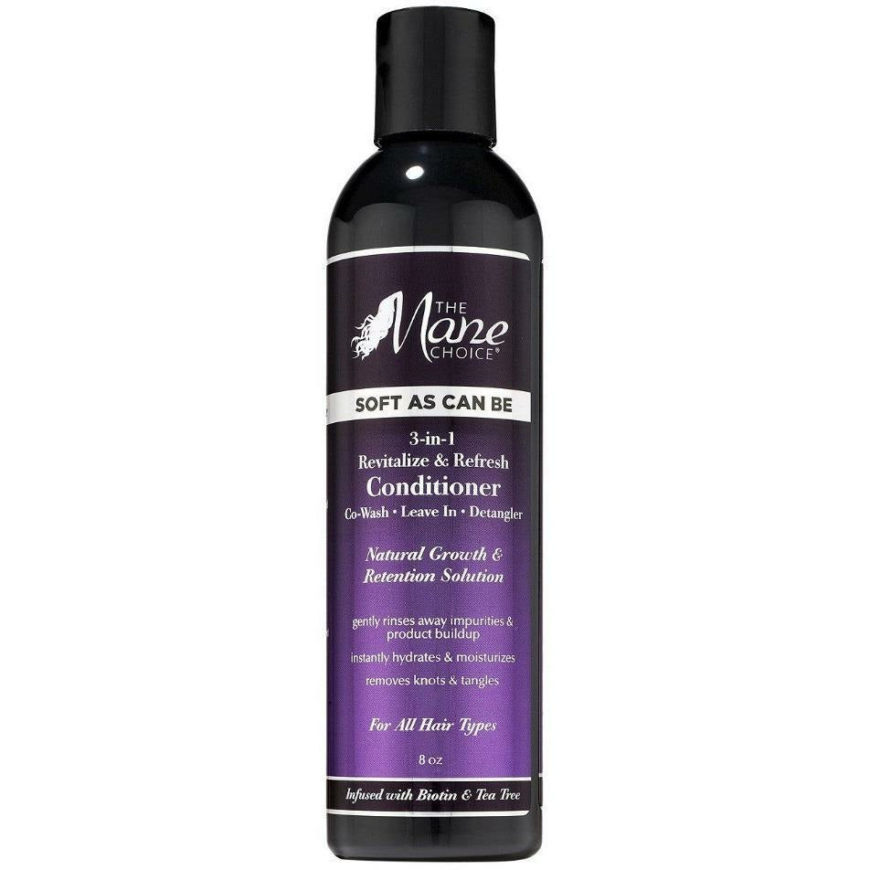 The Mane Choice Styling Product THE MANE CHOICE: Soft As Can Be Revitalize & Refresh 3-in-1 Co-Wash, Leave In, Detangler 8oz