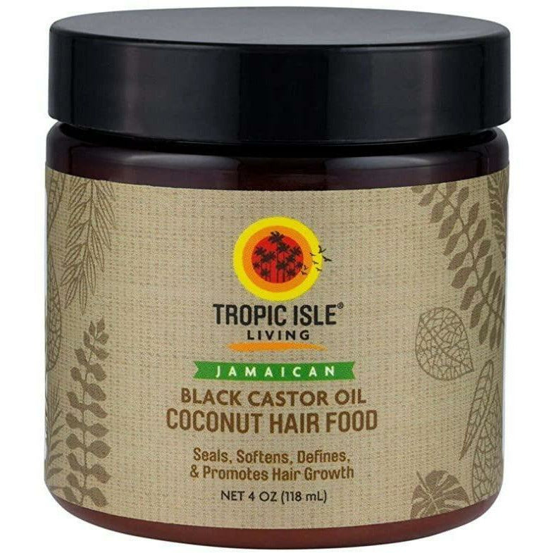 Tropic Isle Styling Product TROPIC ISLE : Jamaican  Black Castor Oil Coconut Hair Food 4oz