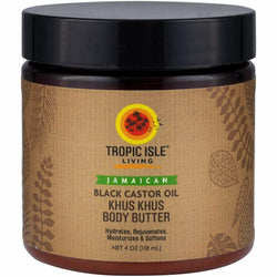Tropic Isle Styling Product TROPIC ISLE : Khus Khus Body Butter with Black Castor Oil 4oz