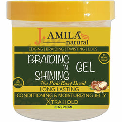 UB Brand Hair Care J. Amila Natural: Braiding 'N Shining Gel 8oz