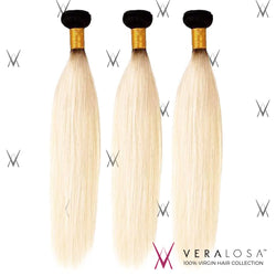 Vera losa™ Virgin Human Hair 10+12+14 / #1B/613 Vera Losa™ 8A Pre-Bleached - Straight #1B/613 - 3 Bundle Deals