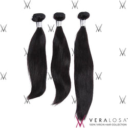 Vera Losa™ Virgin Human Hair 10+12+14 / Natural Color Vera Losa™ 8A Straight - 3 Bundle Deals