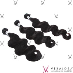 Vera Losa™ Virgin Human Hair 10+12+14 / Natural Color Vera Losa™ 9A Body Wave - 3 Bundle Deals