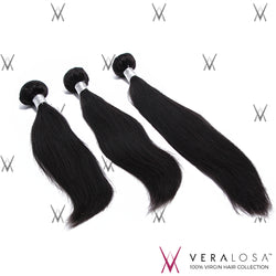 Vera Losa™ Virgin Human Hair 10+12+14 / Natural Color Vera Losa™ 9A Straight - 3 Bundle Deals