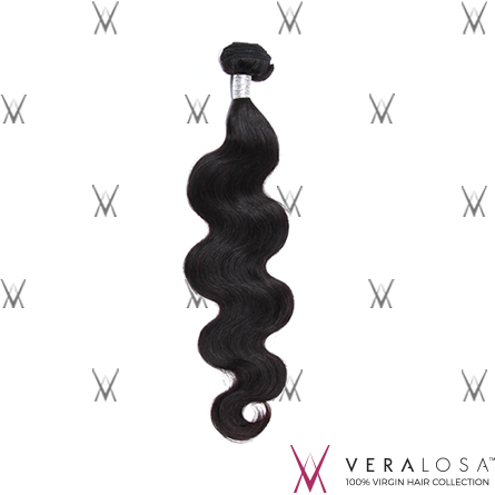 "Vera Losa™ Virgin Human Hair 10"" / Natural Color Vera Losa™ 8A Body Wave - 100% Brazilian Virgin Hair"