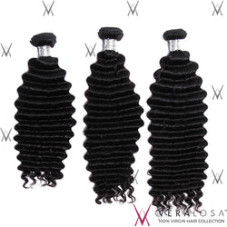 Vera Losa™ Virgin Human Hair 12+14+16 / Natural Color Vera Losa™ 8A Deep Wave - 3 Bundle Deals